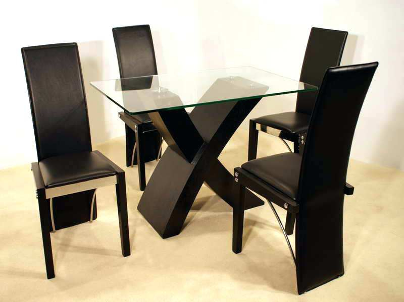 Well Known Black Dining Table And Chairs Set Small Kitchen Table Sets Extending In Extending Black Dining Tables (View 20 of 20)