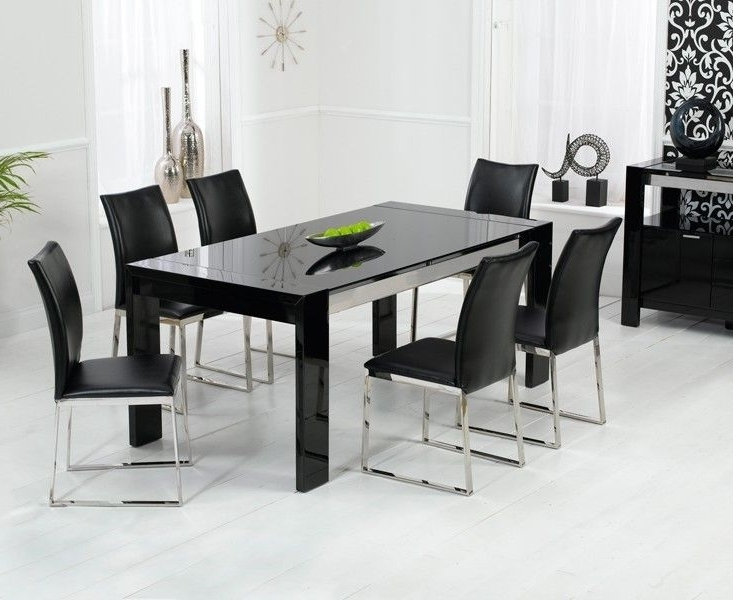 Well Known Black Dining Tables With Regard To Sophia High Gloss Black Dining Table (View 18 of 20)