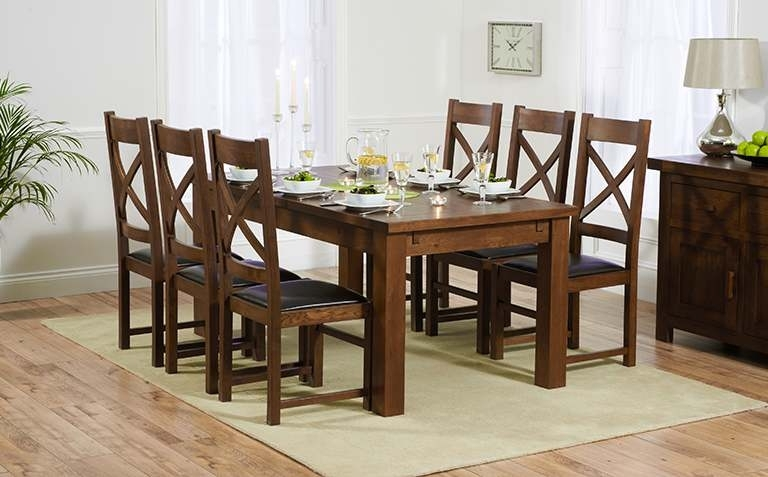 Well Known Black Wood Dining Tables Sets In Dark Wood Dining Table Sets (View 6 of 20)