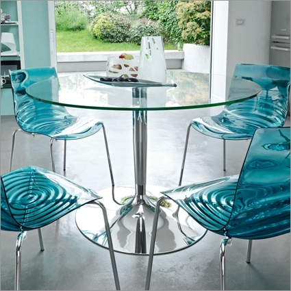 Well Known Blue Glass Dining Tables Regarding Basic Guides On How To Choose The Best Glass Dining Tables – Home (View 20 of 20)