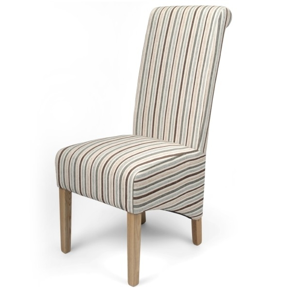 Well Known Blue Stripe Dining Chairs With Dining Chairs – Krista Stripe Dining Chairs In Duck Egg Blue (View 9 of 20)