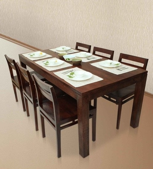 Well Known Buy Gresham Barcelona Six Seater Dining Table Set In Mahogany Finish Regarding Barcelona Dining Tables (View 18 of 20)