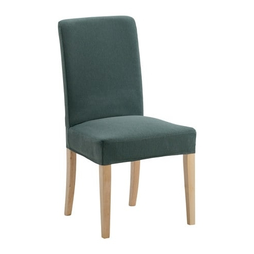 Well Known Caira Upholstered Diamond Back Side Chairs Throughout Henriksdal Chair – Finnsta Turquoise – Ikea (View 9 of 20)