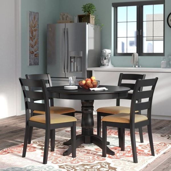 Well Known Candice Ii 5 Piece Round Dining Sets Throughout Andover Mills Oneill Modern 5 Piece Ladder Back Dining Set & Reviews (View 12 of 20)