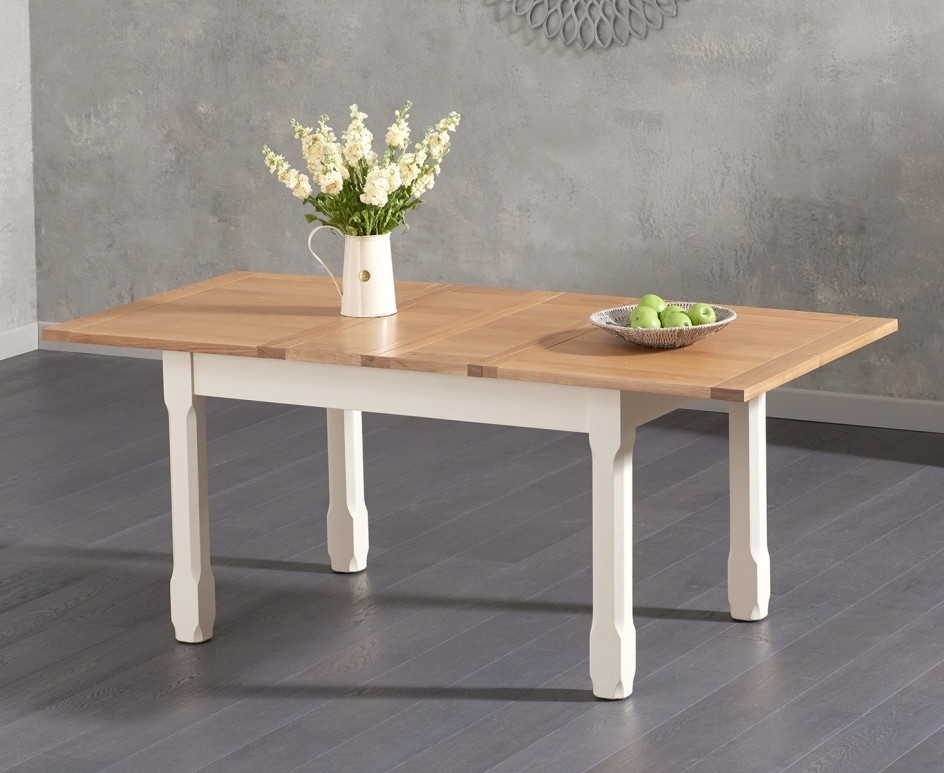 Well Known Candice Ii Extension Rectangle Dining Tables Regarding Somerset 130cm Oak And Cream Extending Dining Table With Candice (View 12 of 20)