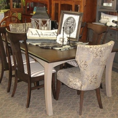 "Well Known Chandler Wood Side Chairs In 48"" X 72"" Chandler Dining Table With 4 12"" Leaves, Shown In Brown (View 18 of 20)"