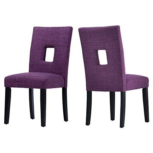 Well Known Chelsea Lane Upholstered Keyhole Dining Side Chair Set Of 2 — To Regarding Caira Upholstered Side Chairs (View 7 of 20)