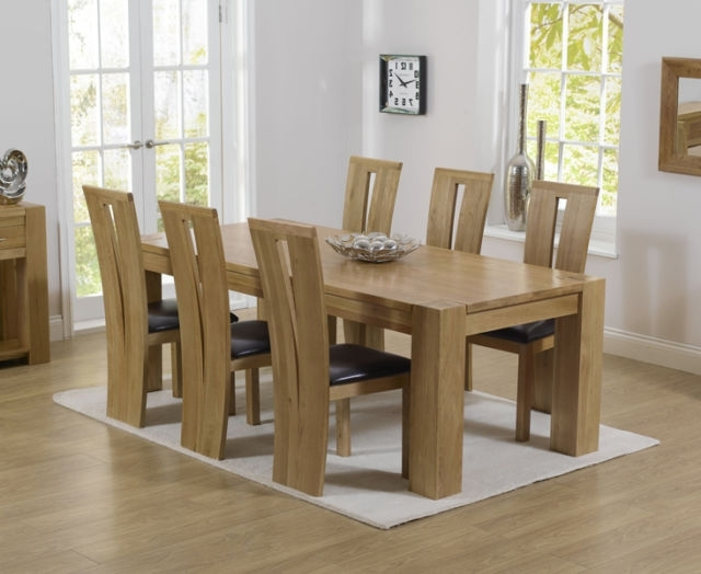 Featured Photo of Chunky Solid Oak Dining Tables And 6 Chairs