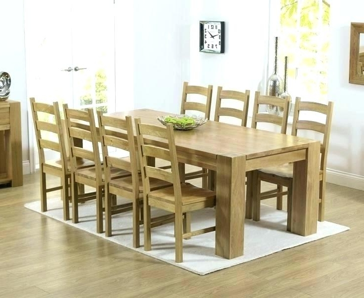 Well Known Chunky Solid Oak Dining Tables And 6 Chairs Intended For Chunky Dining Table And Chairs Room A Chunky Solid Oak Dining Chunky (View 19 of 20)