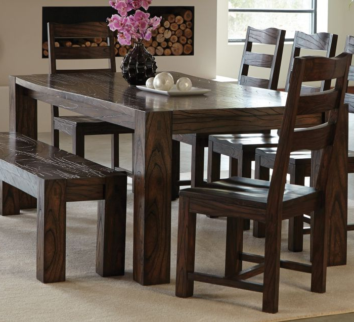 Well Known Coaster 121151 Calabasas Dark Brown Dining Table Pertaining To Dark Dining Tables (View 5 of 20)
