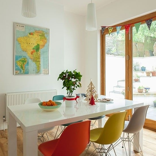 Well Known Colourful Dining Tables And Chairs Inside Dining Room With Multi Coloured Chairs (View 18 of 20)