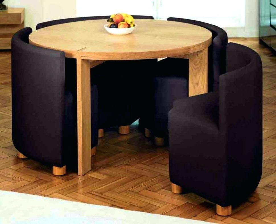 Well Known Compact Dining Tables And Chairs Within Foldable Dining Table And Chairs Dining Tables Comely Folding Dining (View 7 of 20)