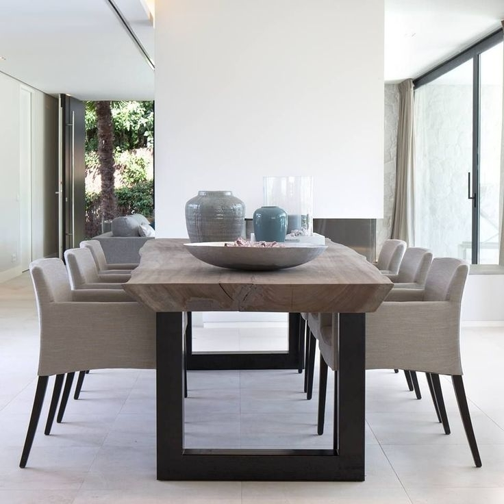 Well Known Contemporary Dining Room Tables And Chairs In 55 Dining Table Set Contemporary, Large Contemporary Italian Ebony (View 18 of 20)