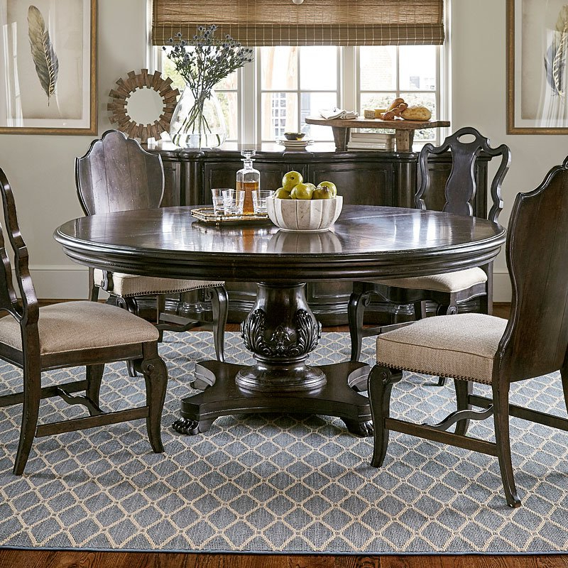 Well Known Continental 66 Inch Round Dining Table (melange) Art Furniture With Valencia 5 Piece 60 Inch Round Dining Sets (View 10 of 20)