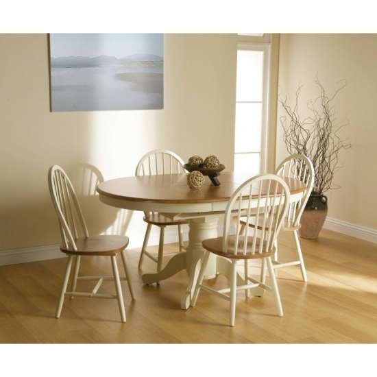 Well Known Cotswold Extending Dining Table + 4 Windsor Chair Dining Set Intended For Cotswold Dining Tables (View 18 of 20)