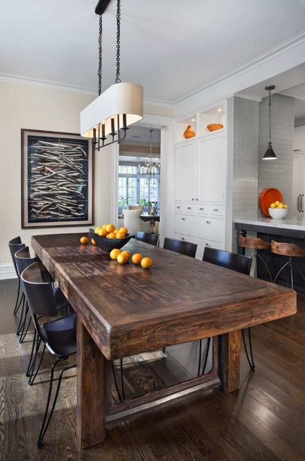 Well Known Dark Solid Wood Dining Tables For Modern Massive Wood Dining Tables That Will Amaze You (View 20 of 20)