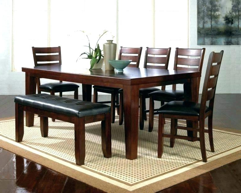 Well Known Dark Wood Dining Tables And 6 Chairs With Regard To Black Wood Dining Table White And Set Simplicity Is The Name Of Dark (View 15 of 20)