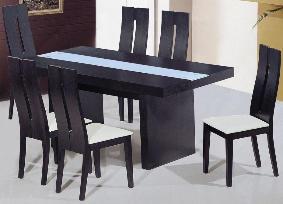 Well Known Dining Room Designs: Charming Square Dining Set Table Black Wooden With Black Wood Dining Tables Sets (View 8 of 20)