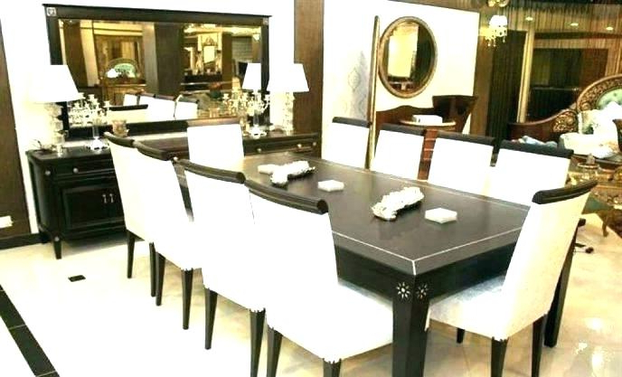 Well Known Dining Tables And 8 Chairs Sets In White Dining Table 8 Chairs Riviera Glass And 6 Or Crushed Velvet (View 19 of 20)