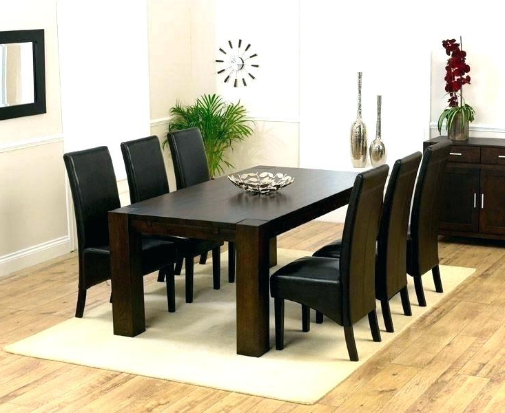 Well Known Dining Tables Dark Wood Within White And Dark Wood Dining Table With Legs Home Interior Magnificent (View 17 of 20)