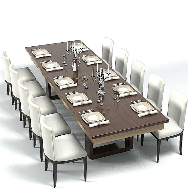Well Known Dining Tables Set For 8 With Large Modern Dining Room Tables Contemporary Dining Room Set 8 (Gallery 12 of 20)