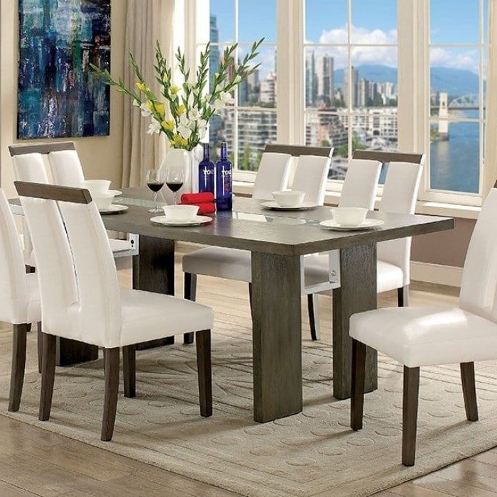 Well Known Dining Tables With Led Lights Intended For Benzara Luminar I Contemporary Style Gray Wood Dining Table With Led (View 14 of 20)