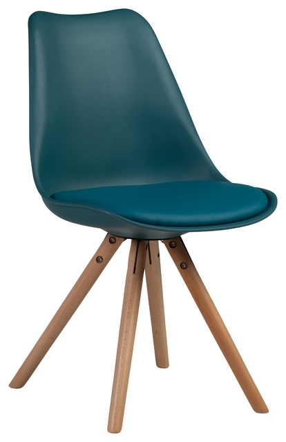 Well Known Dodger Side Chairs Within Midcentury Modern Teal Side Chair Soft Padded Seat, Teal (View 17 of 20)