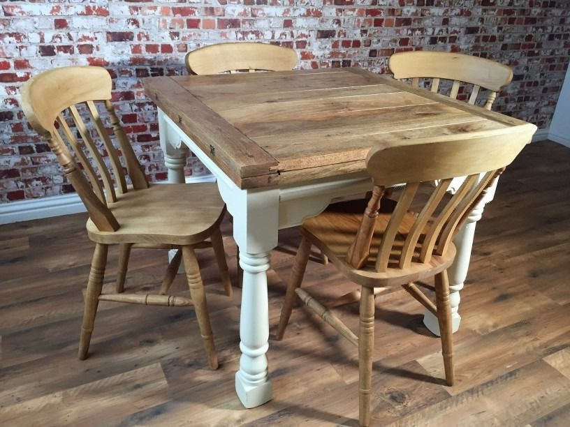 Well Known Drop Leaf Extendable Dining Tables Pertaining To Extending Farmhouse Rustic Dining Table Set – Drop Leaf – Ergonomic (View 8 of 20)