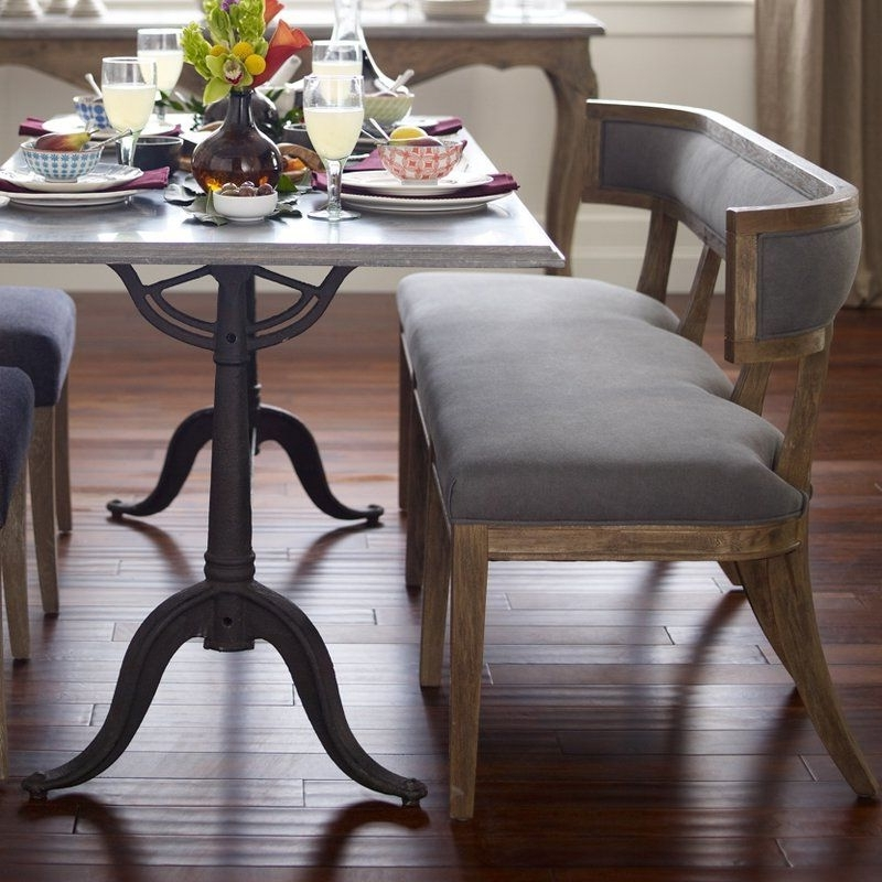 Well Known Durango Smoke & Warm Cedar Dining Chairs Regarding Abbigail Bench (View 18 of 20)