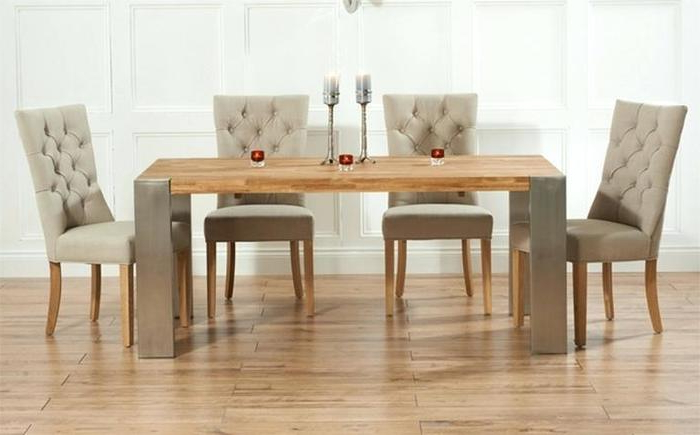 Well Known Extendable Oak Dining Tables And Chairs Pertaining To  (View 20 of 20)