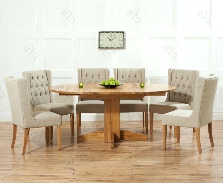Well Known Extending Dining Tables Set Throughout Round Extending Dining Table Sets Solid Wood And 6 Chairs Ebay (View 18 of 20)
