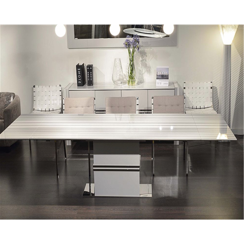 Well Known Extending Marble Dining Tables In Marble Dining Sets (View 6 of 20)
