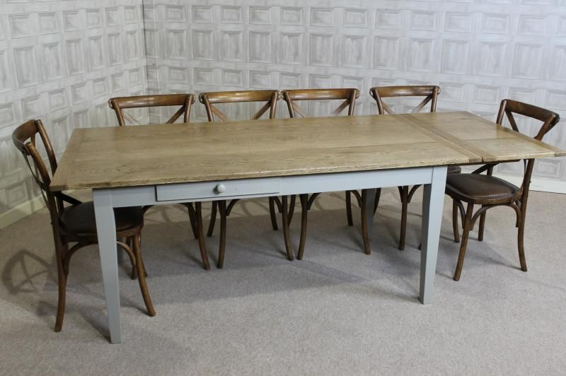 Well Known Extending Oak Dining Table Country Farmhouse Extending Oak Table In Extending Oak Dining Tables (View 15 of 20)