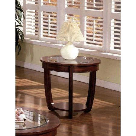 Well Known Furniture Of America Revels Transitional Glass End Table, Dark Inside Caira Upholstered Diamond Back Side Chairs (View 16 of 20)