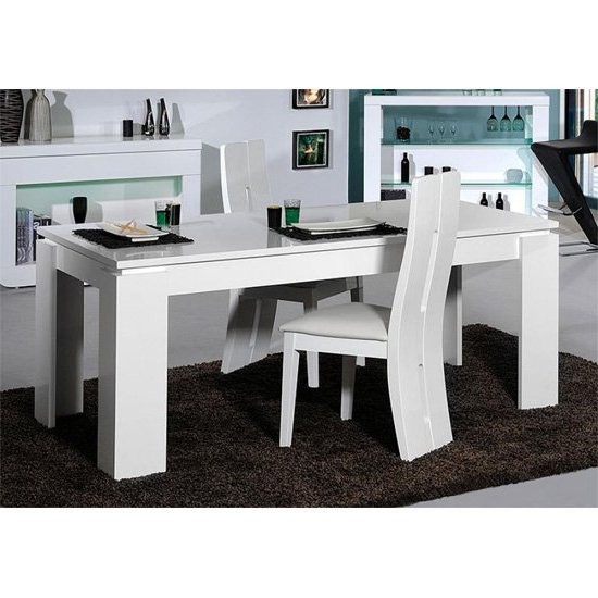 Well Known Gloss Dining Tables Sets Regarding Fiesta Extendable Dining Table In High Gloss White  (View 19 of 20)