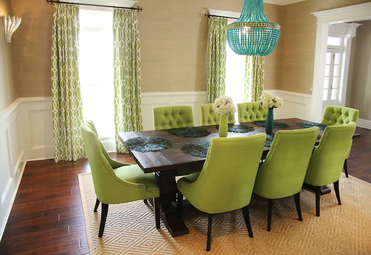 Well Known Green Dining Tables Pertaining To Green Dining Chairs – Contemporary – Dining Room – Colordrunk Design (View 15 of 20)