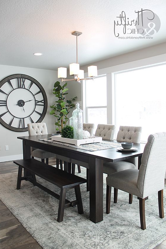 Well Known How To Decorate With Large Clocks (And My Favourite Oversized Clocks Pertaining To Dining Room Tables (Gallery 3 of 20)