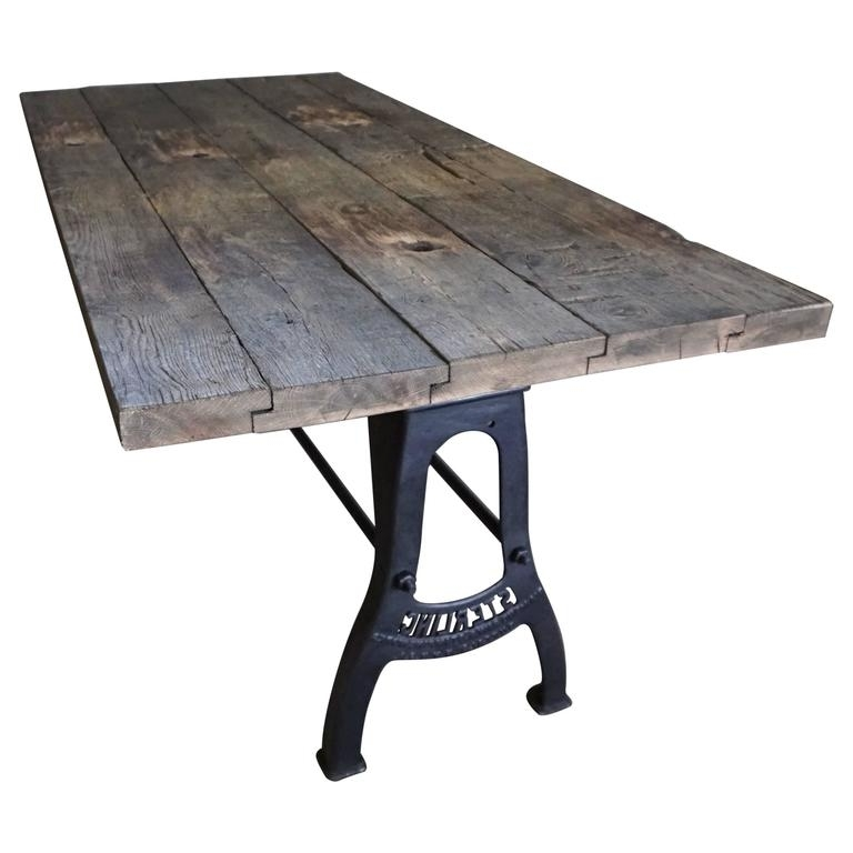 Well Known Industrial Brushed Metal Dining Table Early 20Th Century At 1Stdibs Pertaining To Brushed Metal Dining Tables (View 19 of 20)