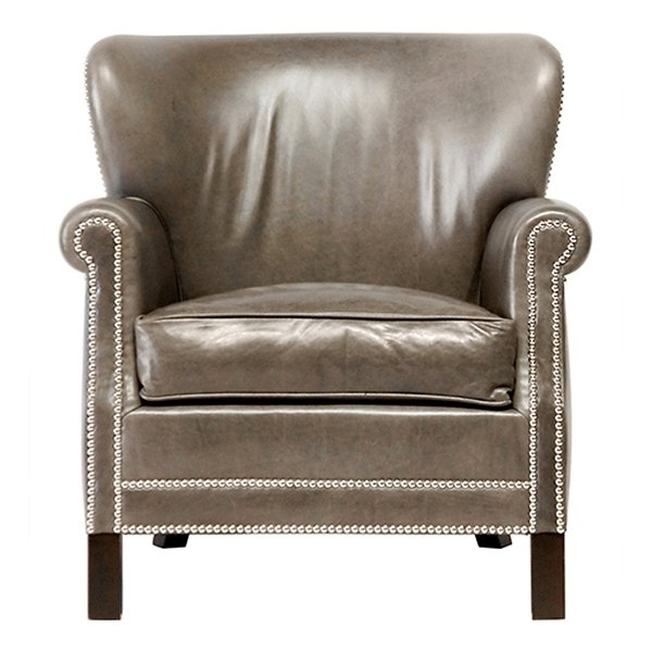 Well Known Jaxon Grey Upholstered Side Chairs Intended For Shop Jaxon Kings Spanish Moss Leather Armchair – Free Shipping Today (View 19 of 20)