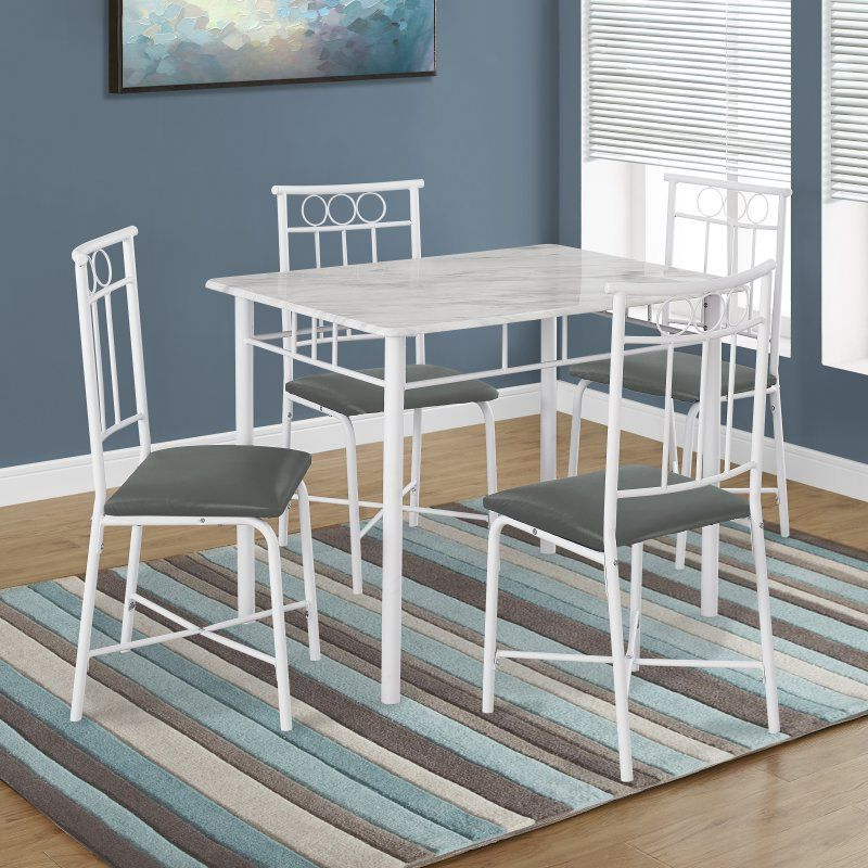 Well Known Kirsten 5 Piece Dining Sets In Monarch Specialties Kirsten 5 Piece Dining Table Set – I  (View 19 of 20)