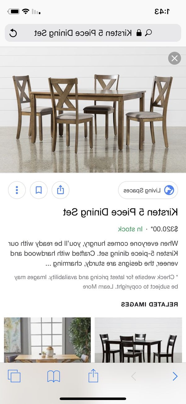 Well Known Kristen Dining Table And Bench For Sale In San Jose, Ca – Offerup Inside Kirsten 5 Piece Dining Sets (View 13 of 20)