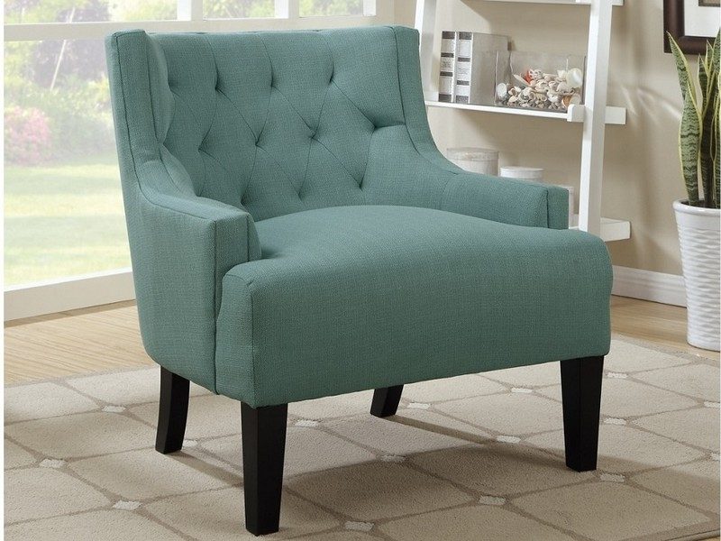 Well Known Light Blue Accent Chair And Green Room — The Home Redesign For Nautical Blue Side Chairs (View 6 of 20)
