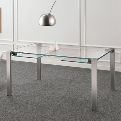 Well Known Livingstone 160Cm Extraclear Glass Extending Dining Table Within Glass Extending Dining Tables (View 16 of 20)