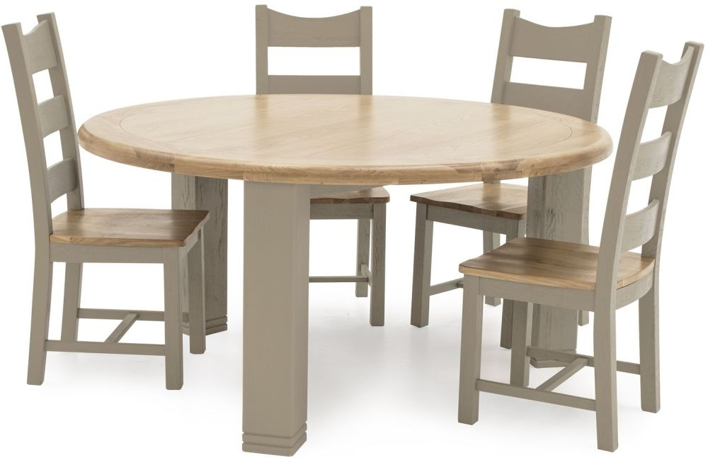 Well Known Logan Dining Tables With Regard To Buy Vida Living Logan Taupe Painted Round Dining Table – 156Cm (View 19 of 20)
