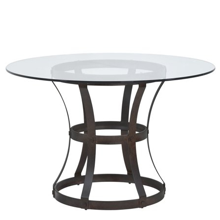 Well Known Macie Round Dining Tables In Armen Living Vancouver Round Dining Table With Finish And 48 Inch (View 11 of 20)