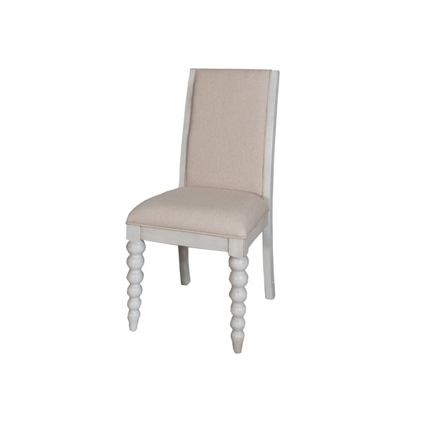 Well Known Mindy Slipcovered Side Chairs Intended For Cottage Harbor Dove Grey Linen Upholstered Dining Chair – Free (View 14 of 20)