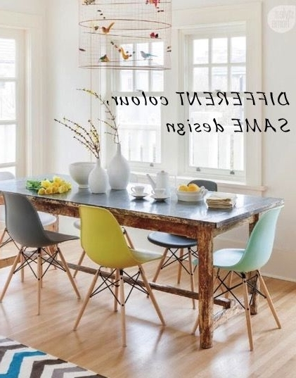 Well Known Modern Different Colour Dining Room Chairs How To Mix Interior Intended For Colourful Dining Tables And Chairs (View 19 of 20)