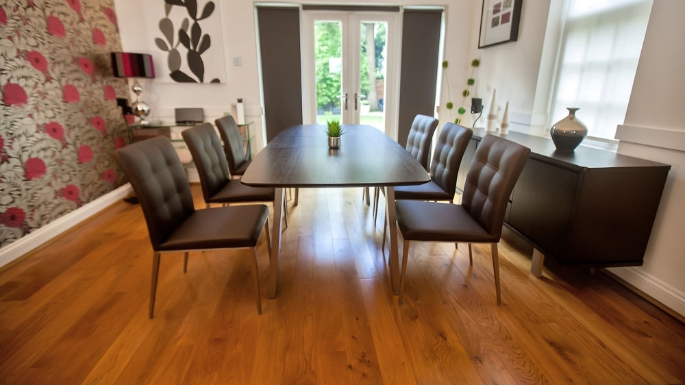 Well Known Modern Wenge Dark Wood Extending Dining Set (View 18 of 20)