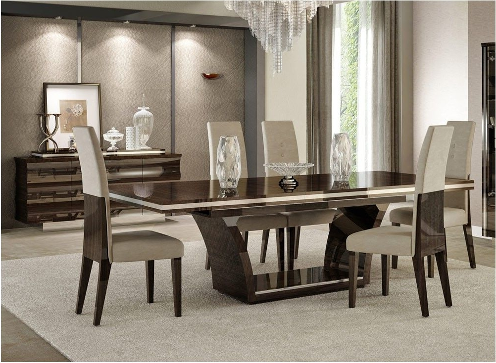 Well Known Nice Giorgio Italian Modern Dining Table Set – Contemporary Dining In Contemporary Dining Sets (View 14 of 20)