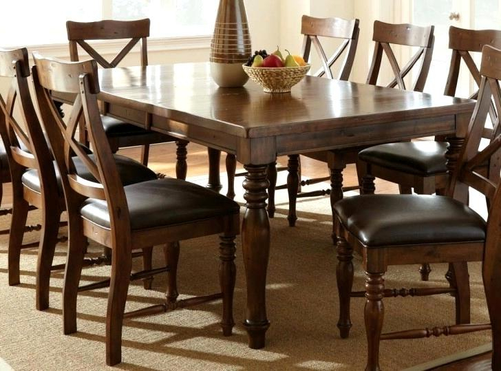 Well Known Norwood 9 Piece Rectangular Extension Dining Sets With Uph Side Chairs Intended For Special Concept 9 Pc Dining Room Set – Bestlighting (View 13 of 20)